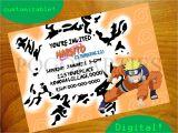 Naruto theme Birthday Invitation Naruto Birthday Invitation Invitation Librarry