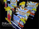 Naruto theme Birthday Invitation Naruto Inkpressive Invitations