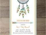 Native American Baby Shower Invitations Dreamcatcher Baby Shower Invitations • Birthday • Bridal