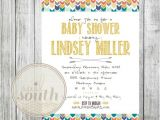 Native American Baby Shower Invitations Tribal Baby Shower Invitation Custom Baby Shower Invitation