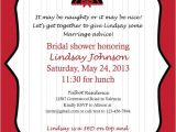 Naughty Bridal Shower Invitations Naughty or Nice Bridal Shower Invite by