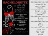 Naughty Bridal Shower Invitations Printable Naughty and Nice Black and Red Glitter Passion