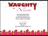 Naughty or Nice Bridal Shower Invitations Naughty or Nice Bachelorette Party