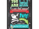 Naughty or Nice Party Invitations Blackboard Naughty or Nice Christmas Party Invites