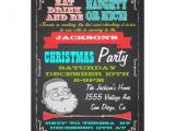 Naughty or Nice Party Invitations Blackboard Naughty or Nice Christmas Party Invites Zazzle