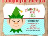 Naughty or Nice Party Invitations Naughty or Nice Elf Holiday Party Invitation You Print