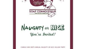 Naughty or Nice Party Invitations Naughty or Nice Holiday Party Invitations Paperstyle