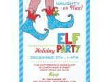 Naughty or Nice Party Invitations Naughty or Nice Magic Elf Holiday Party Invitation Zazzle