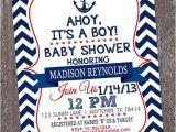 Nautical Baby Shower Invitation Wording Chevron Nautical Baby Shower Invitations 1 00 Each with