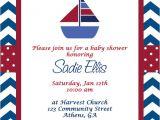 Nautical Baby Shower Invitation Wording Imposing Design Nautical theme Baby Shower Invitations