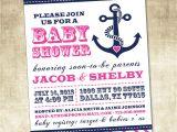 Nautical Baby Shower Invitation Wording Nautical Baby Shower Invitation Pink Blue Navy Anchor