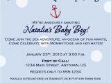 Nautical Baby Shower Invitation Wording Nautical theme Baby Shower Invitation Wording Party Xyz