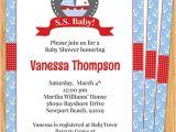 Nautical Baby Shower Invitations Etsy Items Similar to Nautical Boat Baby Shower Invitation On Etsy