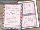 Nautical Baby Shower Invitations Etsy Items Similar to Nautical Girl Baby Shower Invitation Jpeg