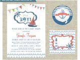 Nautical Baby Shower Invitations Etsy Items Similar to Nautical themed Baby Shower Invitation