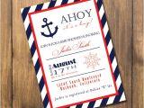 Nautical Baby Shower Invitations Etsy Nautical Boy Baby Shower Invitation by Alexbehmdesigns On Etsy