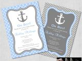 Nautical Baby Shower Invitations for Boys Nautical Baby Shower Invitation Boy Gray & Blue by