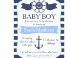 Nautical Baby Shower Invitations for Boys Nautical Baby Shower Invites