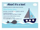 "Nautical Baby Shower Invitations for Boys Nautical Sailboat Baby Boy Baby Shower Invitation 5"" X 7"
