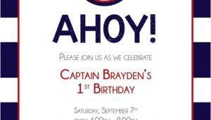 Nautical Birthday Invitation Template Nautical Birthday Invitation by Savethedatedesigns On Etsy