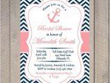 Nautical Bridal Shower Invitation Template Bridal Shower Invitation Nautical Printable Invitation