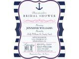 Nautical Bridal Shower Invitation Template Nautical Anchor Bridal Shower Navy & Pink Card