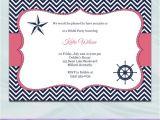 Nautical Bridal Shower Invitation Template Nautical Bridal Shower Invitation Template by