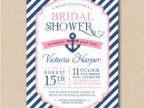 Nautical Bridal Shower Invites Items Similar to Bridal Shower Invitation Nautical