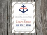 Nautical Bridal Shower Invites Nautical Bridal Shower Invitation Anchor by Printyourheartout