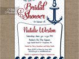 Nautical Bridal Shower Invites Red Nautical Bridal Shower Invitation Red Nautical