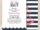Nautical Bridal Shower Invites Tying the Knot Nautical Bridal Shower by Palmbeachprints