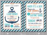 Nautical theme Baby Shower Invitations Etsy Items Similar to Nautical theme Baby Shower Invitation