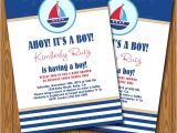 Nautical theme Baby Shower Invitations Etsy Items Similar to Nautical theme Baby Shower Invitations
