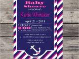 Nautical theme Baby Shower Invitations Etsy Nautical Girl theme Baby Shower Invite by Printagram On Etsy