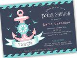 Nautical theme Baby Shower Invitations Etsy Template Nautical Baby Shower Invitations Etsy Nautical