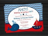Nautical themed Baby Shower Invites Ahoy It S A Boy Nautical Baby Shower Invitation by