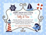 Nautical themed Baby Shower Invites Money Savvy Fashionista Whimsical Nautical Baby Shower