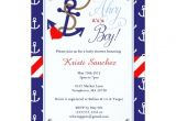 Nautical themed Baby Shower Invites Nautical themed Baby Shower Invitation