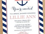 Nautical themed Bridal Shower Invitations Personalized Anchors Away Nautical Bridal Shower