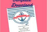 Nautical themed Wedding Invitation Template Free Printable Nautical Wedding Invitations