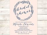 Navy and Blush Bridal Shower Invitations 1000 Ideas About Blush Bridal Showers On Pinterest