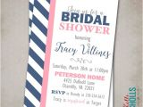 Navy and Blush Bridal Shower Invitations Custom Modern Navy Blush Bridal Shower Invitation Digital