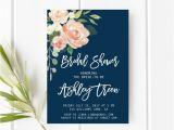 Navy and Blush Bridal Shower Invitations Navy and Blush Bridal Shower Invitation Peach Bridal Shower