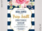 Navy and Blush Bridal Shower Invitations Navy Blue and Blush Pink Floral Invitation Bridal Shower