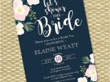 Navy and Blush Bridal Shower Invitations Navy Blush Bridal Shower Invitation Floral Bridal Shower