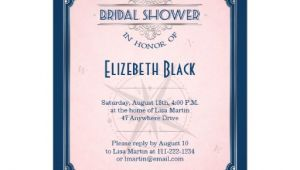 Navy and Blush Bridal Shower Invitations Navy Blush Pink Silver Vintage Frame Bridal Shower 5×7