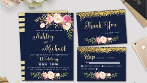 Navy and Gold Wedding Invitation Template Gold Wedding Invitation Template Navy Wedding Invitation