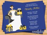 Navy and Yellow Bridal Shower Invitations Navy and Yellow Bridal Shower Invitation 5×7 Printable