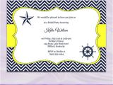 Navy and Yellow Bridal Shower Invitations Navy and Yellow Bridal Shower Invitation by