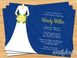 Navy and Yellow Bridal Shower Invitations Navy and Yellow Bridal Shower Invitation